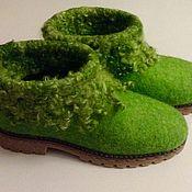"""Обувь ручной работы. Ярмарка Мастеров - ручная работа Сапожки """"Изумруд"""". Handmade."""