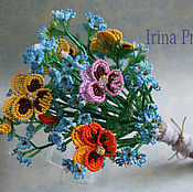 Цветы и флористика handmade. Livemaster - original item A bouquet of beaded flowers.