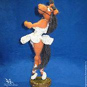 Куклы и игрушки ручной работы. Ярмарка Мастеров - ручная работа Лошадь -Балерина. Handmade.