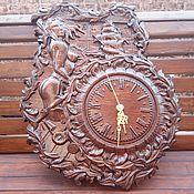 """Часы классические ручной работы. Ярмарка Мастеров - ручная работа Часы из дерева """"РУСАЛКА"""". Handmade."""