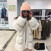 Одежда handmade. Livemaster - original item White cardigan for the winter short coat knitted. Handmade.