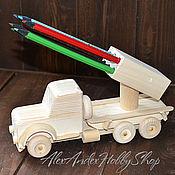 Материалы для творчества ручной работы. Ярмарка Мастеров - ручная работа Карандашница Автомобиль неокрашенное дерево. Handmade.