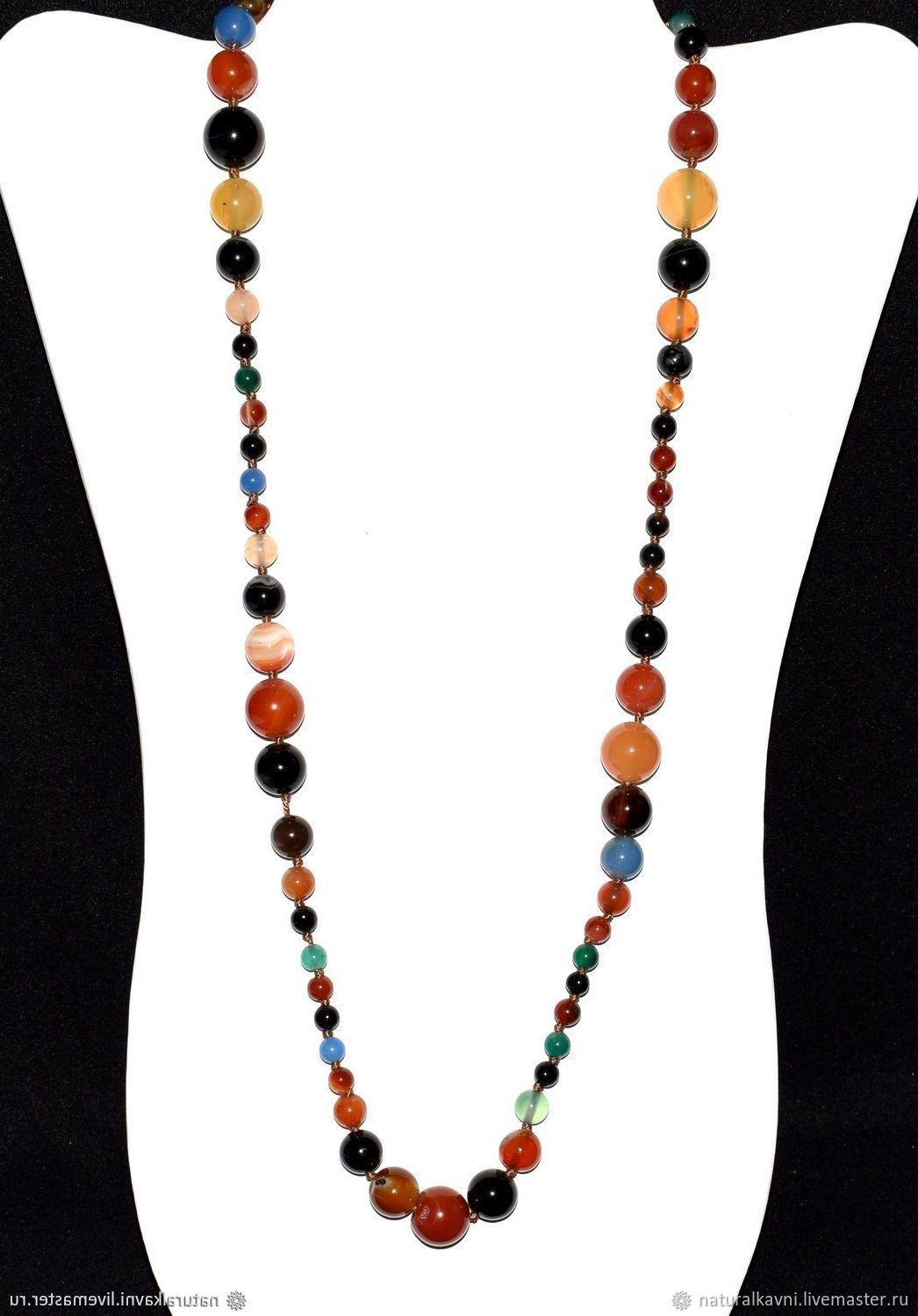 83f0f9ec04 My Necklaces & Beads handmade. Colorful choker / necklace of natural agate.  naturalkavni. My