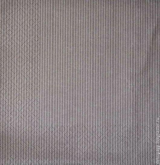 Декупаж и роспись ручной работы. Ярмарка Мастеров - ручная работа. Купить Салфетка Полоски серые тонкие. Handmade. Салфетка для декупажа