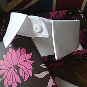 Аксессуары ручной работы. Ярмарка Мастеров - ручная работа Воротничок белый съемный рубашечный на стойке. Handmade.