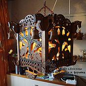 Для дома и интерьера handmade. Livemaster - original item Lamp chandelier wood Hares. Handmade.