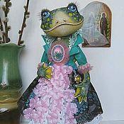 Куклы и пупсы ручной работы. Ярмарка Мастеров - ручная работа Лягушка. Интерьерная текстильная кукла.. Handmade.