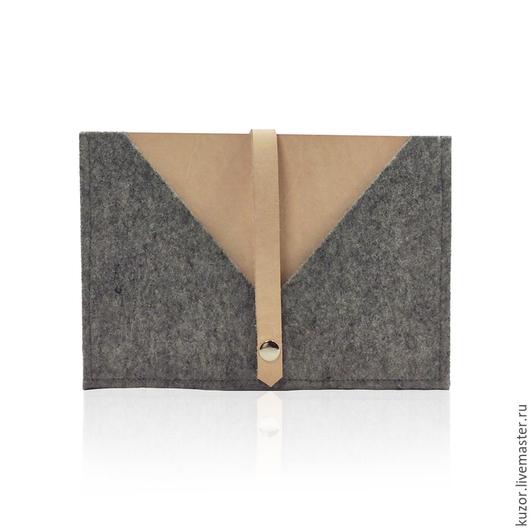 Сумки для ноутбуков ручной работы. Ярмарка Мастеров - ручная работа. Купить Чехол для Ipad mini. Handmade. Серый, чехол из кожи