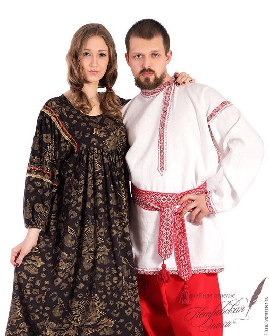 Одежда ручной работы. Ярмарка Мастеров - ручная работа. Купить платье в славянском стиле. Handmade. Черный, славянские мотивы