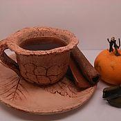 """Посуда ручной работы. Ярмарка Мастеров - ручная работа Кофейная пара """"кофе в ноябре"""". Handmade."""