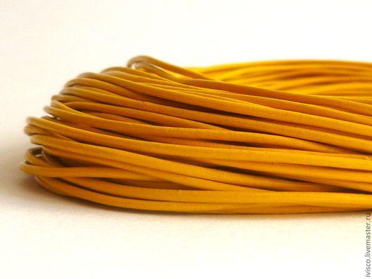 Для украшений ручной работы. Ярмарка Мастеров - ручная работа. Купить Кожаный шнур 1,5мм. Handmade. Шнур для украшений