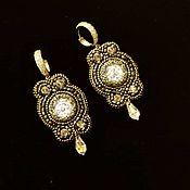 Украшения handmade. Livemaster - original item Earrings Elizabeth. Bead embroidery. Handmade.