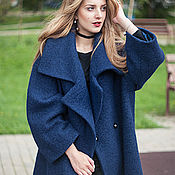 """Одежда ручной работы. Ярмарка Мастеров - ручная работа Пальто - халат  с поясом """"Синее пальто"""". Handmade."""