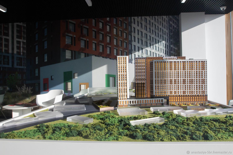 Макет жилого комплекса, Модели, Москва,  Фото №1