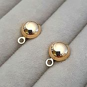 Материалы для творчества handmade. Livemaster - original item Earrings studs 10.5x8 mm gold plated (3609). Handmade.