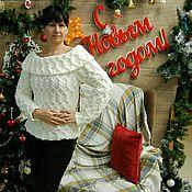 Одежда ручной работы. Ярмарка Мастеров - ручная работа Красивый женственный пуловер. Handmade.