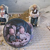 """Для дома и интерьера ручной работы. Ярмарка Мастеров - ручная работа Шкатулка-игольница """"Жили, были....."""". Handmade."""