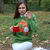 """Одежда ручной работы. Ярмарка Мастеров - ручная работа Джемпер """"Лисичка"""" + носочки в подарок. Handmade."""