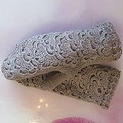 Аксессуары handmade. Livemaster - original item Knitted mittens in beige-gray color.. Handmade.