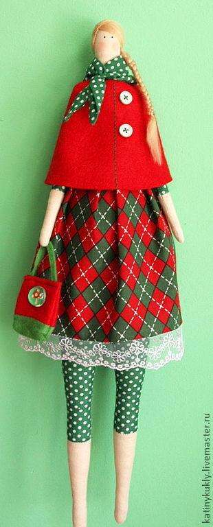 Куклы Тильды ручной работы. Ярмарка Мастеров - ручная работа. Купить Хельга. Текстильная кукла. Тильда.. Handmade. Ярко-красный