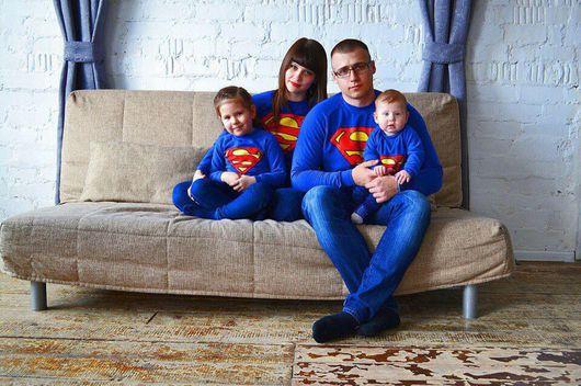 Для будущих и молодых мам ручной работы. Ярмарка Мастеров - ручная работа. Купить Комплект свитшотов в стиле Family Look. Handmade.