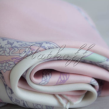 Accessories handmade. Livemaster - original item Italian silk scarf from Louis Vuitton