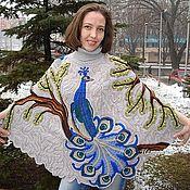 """Одежда ручной работы. Ярмарка Мастеров - ручная работа Пончо """"Синяя птица"""". Handmade."""