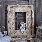 """Для дома и интерьера ручной работы. Ярмарка Мастеров - ручная работа Деревянная рамка """" Home"""". Handmade."""