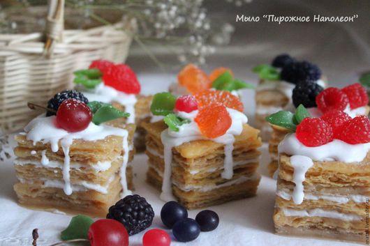 Мыло `Пирожное Наполеон`.