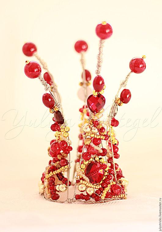 Диадемы, обручи ручной работы. Ярмарка Мастеров - ручная работа. Купить Красная КОРОНА. Корона для принцессы. Детская корона. Handmade.