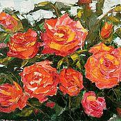Картины и панно ручной работы. Ярмарка Мастеров - ручная работа Картина Куст садовых роз. Handmade.