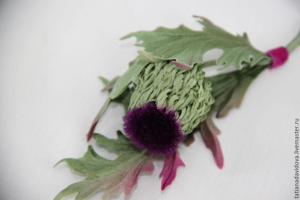 Чертополох цветы купить заказать свадебный букет в омске