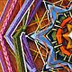 Индейская мандала Татьяны Сычевой `Горноцвет`. 27 см, шерсть и акрил.