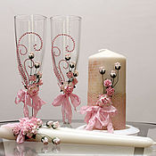 """Свадебный салон ручной работы. Ярмарка Мастеров - ручная работа Комплект """"Розовый зефир"""". Handmade."""