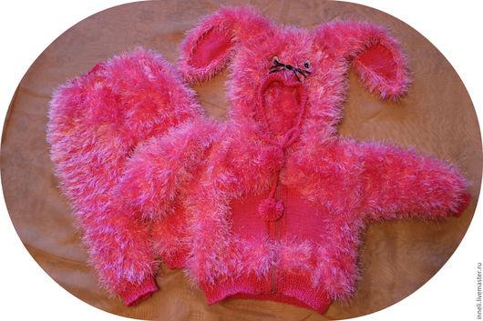 """Комбинезоны ручной работы. Ярмарка Мастеров - ручная работа. Купить Костюм """"Зайчика"""". Handmade. Розовый, теплая одежда, детская пряжа"""