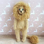 Куклы и игрушки handmade. Livemaster - original item Leo Nicholas 26 svasana author`s interior toy lion cub. Handmade.