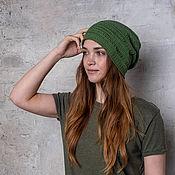Аксессуары handmade. Livemaster - original item Caps: Hat cotton summer Khaki. Handmade.