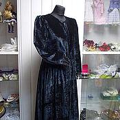 Одежда handmade. Livemaster - original item Velvet coat with lace. Handmade.