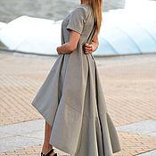 Одежда ручной работы. Ярмарка Мастеров - ручная работа Асимметричное платье в клетку, Платье из хлопка, Модное платье. Handmade.