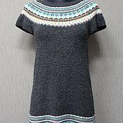 Винтаж handmade. Livemaster - original item Dress INDISKA Vintage 70% lambswool. Sweden R. S (42). Handmade.