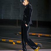 Одежда ручной работы. Ярмарка Мастеров - ручная работа Бархатные брюки с жемчужными пуговицами. Handmade.