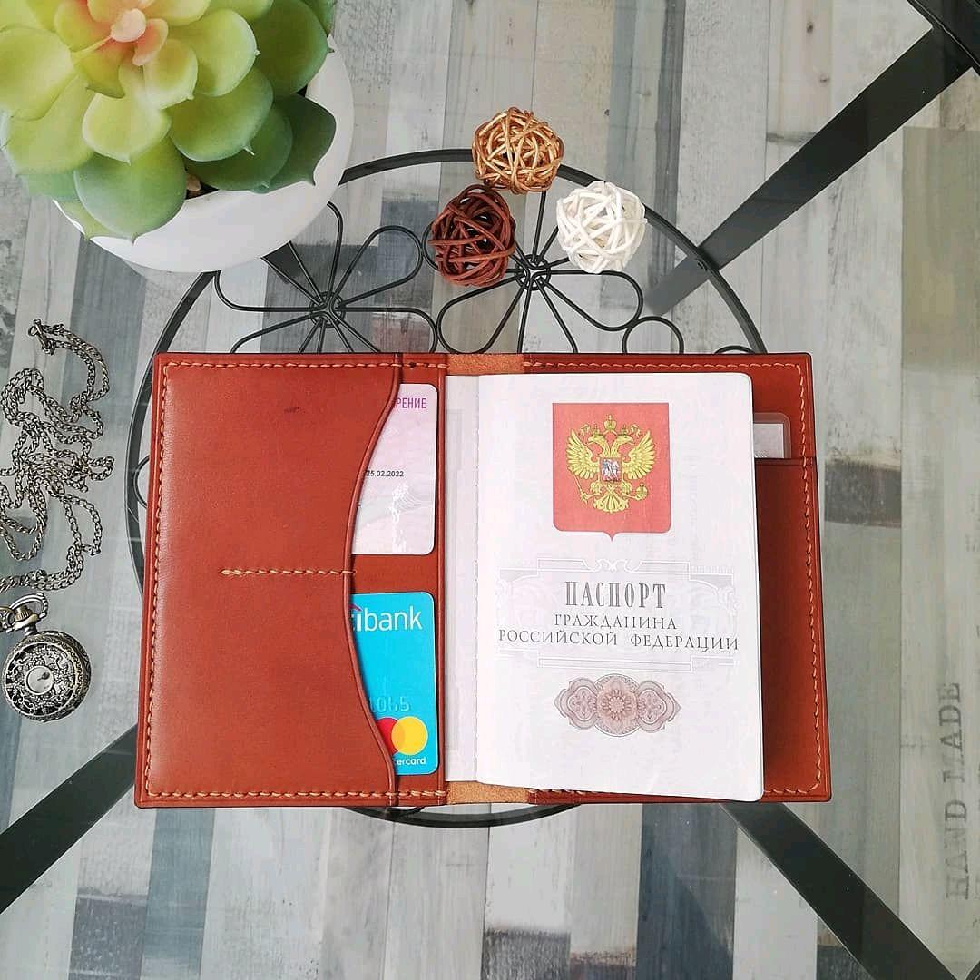 Подарки для мужчин, ручной работы. Ярмарка Мастеров - ручная работа. Купить Обложка для паспорта. Handmade. Подарок мужчине, натуральная кожа