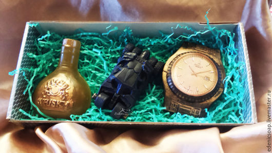 Оригинальный подарочный набор мыла ручной работы. Подарки для мужчин.