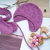 Работы для детей, handmade. Livemaster - original item Knitted cap, knitted hat, cap knitting for Cranberry. Handmade.