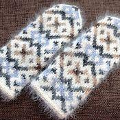 Аксессуары ручной работы. Ярмарка Мастеров - ручная работа Варежки из собачьего пуха и альпаки. Handmade.