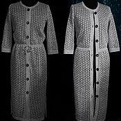 Одежда handmade. Livemaster - original item 100% linen openwork cardigan with drawstring at the waist .. Handmade.