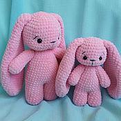 Мягкие игрушки ручной работы. Ярмарка Мастеров - ручная работа Зайчиха с зайчонком. Мама и малыш. Handmade.