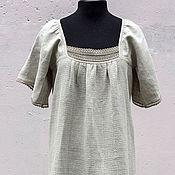 Комбинации ручной работы. Ярмарка Мастеров - ручная работа `Берегиня` - ночная рубашка из крапивы и конопли. Handmade.