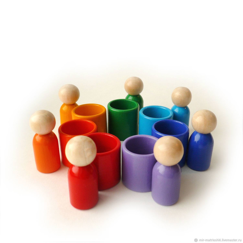 "Сортер ""Человечки"" (Радуга цвет), Stuffed Toys, Sarov,  Фото №1"