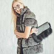 """Одежда ручной работы. Ярмарка Мастеров - ручная работа Жилетка из кролика """"Grey"""". Handmade."""